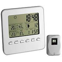 Цифровая метеостанция для дома с беспроводным датчиком TFA Quadro White