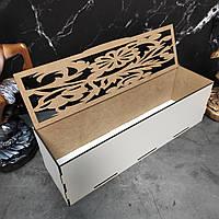 Оригинальная деревянная шкатулка. Коробка для упаковки подарков.