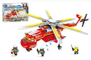 Конструктор Пожарный вертолет Сити 80531, 352 дет, пожарная серия