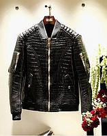 Куртка мужская из натуральной кожи крокодила