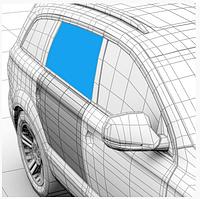 Стекло дверное заднее правое XYG Dacia Logan седан фаза 1/2, Logan 2