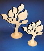 Дерево с листиками (высота 40см.) заготовка для декупажа и декора