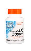 Вітаміни і мінерали Doctor's s BEST Vitamin D3 5000 IU 180 софтгель