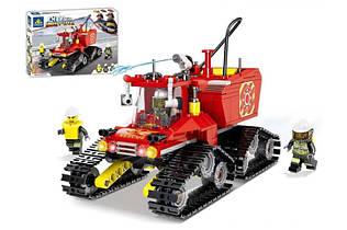 Конструктор Гусеничная пожарная машина Сити 80528, 410 дет, пожарная серия