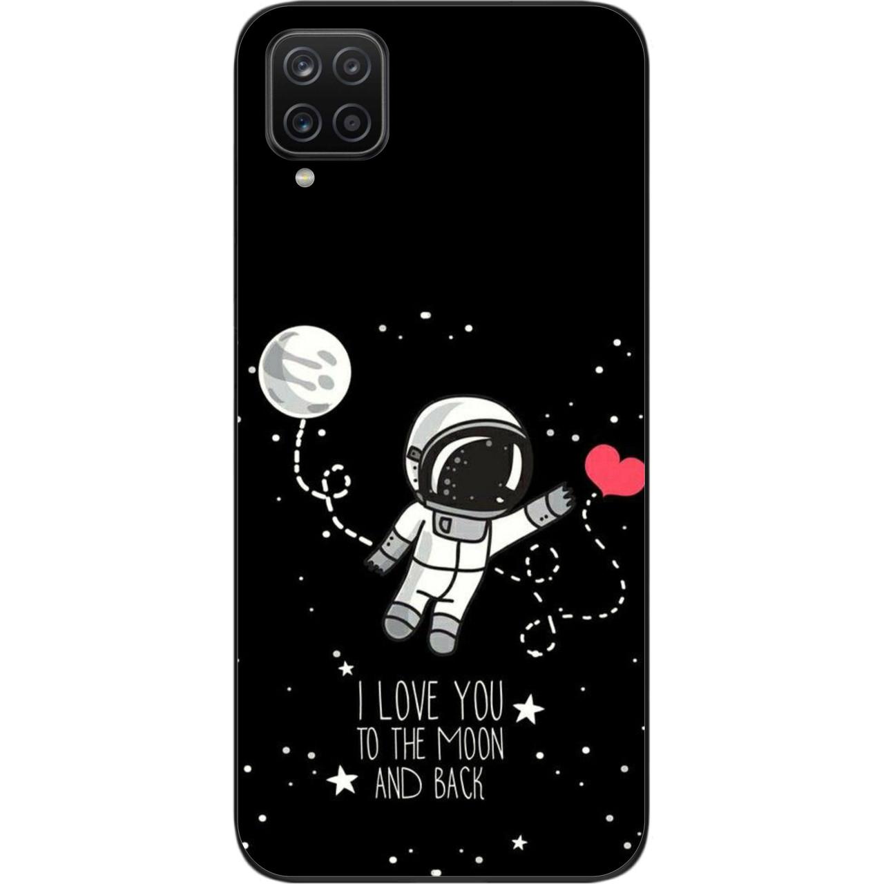 Оригинальный силиконовый чехол для Samsung A12 Galaxy A125F с картинкой Любовь до луны