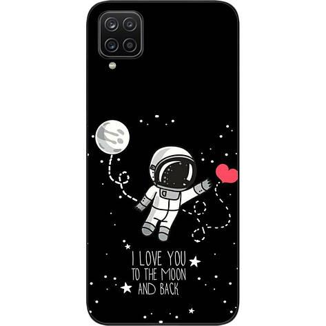 Оригинальный силиконовый чехол для Samsung A12 Galaxy A125F с картинкой Любовь до луны, фото 2