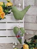 Пташки великодні ручної роботи, h 9,5 см х 11 см, 110\95, фото 6