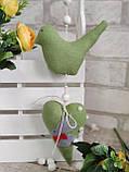 Пташки великодні ручної роботи, h 9,5 см х 11 см, 110\95, фото 7