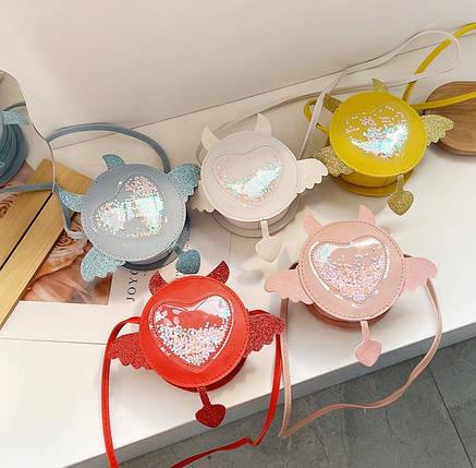Стильні круглі міні сумочки з красивим декром, фото 2