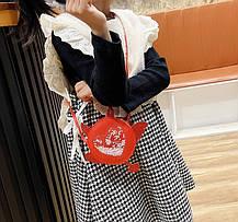Стильні круглі міні сумочки з красивим декром, фото 3