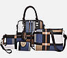 Оригінальний набір жіночих сумок в клітку 4в1, фото 3