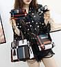 Оригінальний набір жіночих сумок в клітку 4в1, фото 2