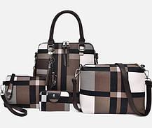 Оригинальный набор женских сумок в клетку 4в1, фото 2