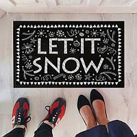 Дверний килимок Пусть идет снег