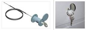 Комплект механизма разблокировки привода секционных ворот RM0104-4500 трос 4,5 м.