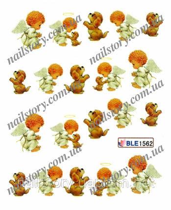Водные наклейки для ногтей BLE1562, фото 2