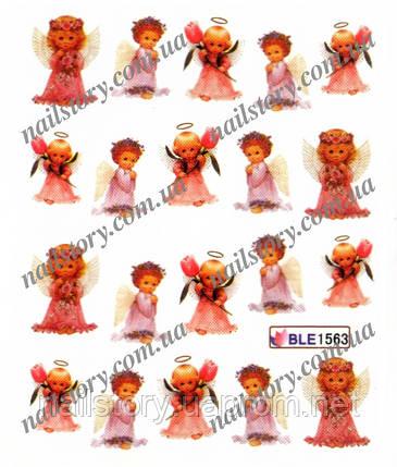Водные наклейки для ногтей BLE1563, фото 2