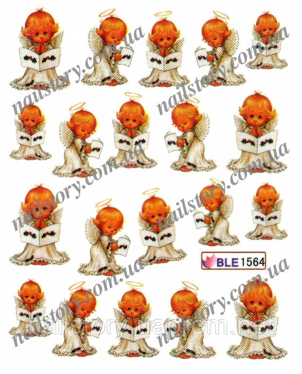 Водні наклейки для нігтів BLE1564