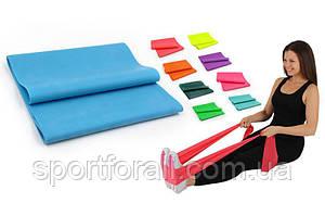 Лента эластичная для фитнеса и йоги  (р-р 5м x 15см x 0,45мм) FI-6256-5М