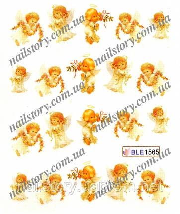 Водні наклейки для нігтів BLE1565, фото 2