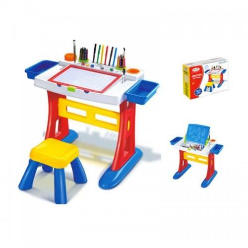 Детская функциональная парта со стулом HM1102A с доской для рисования