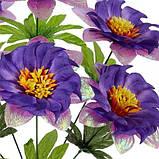 Искусственные цветы букет гербер с парчой Водоворот, 41см, фото 2