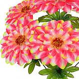 Искусственные цветы букет георгины атласный Нео-Мах , 55см, фото 2