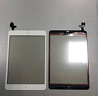 Тачскрин / сенсор (сенсорное стекло) для Apple iPad mini   iPad mini 2 (белый, с микросхемой, с кнопкой Home)