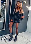 Черное платье с напылением, фото 3