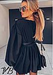 Черное платье с напылением, фото 4