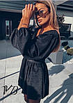 Черное платье с напылением, фото 5