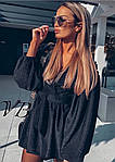 Черное платье с напылением, фото 6