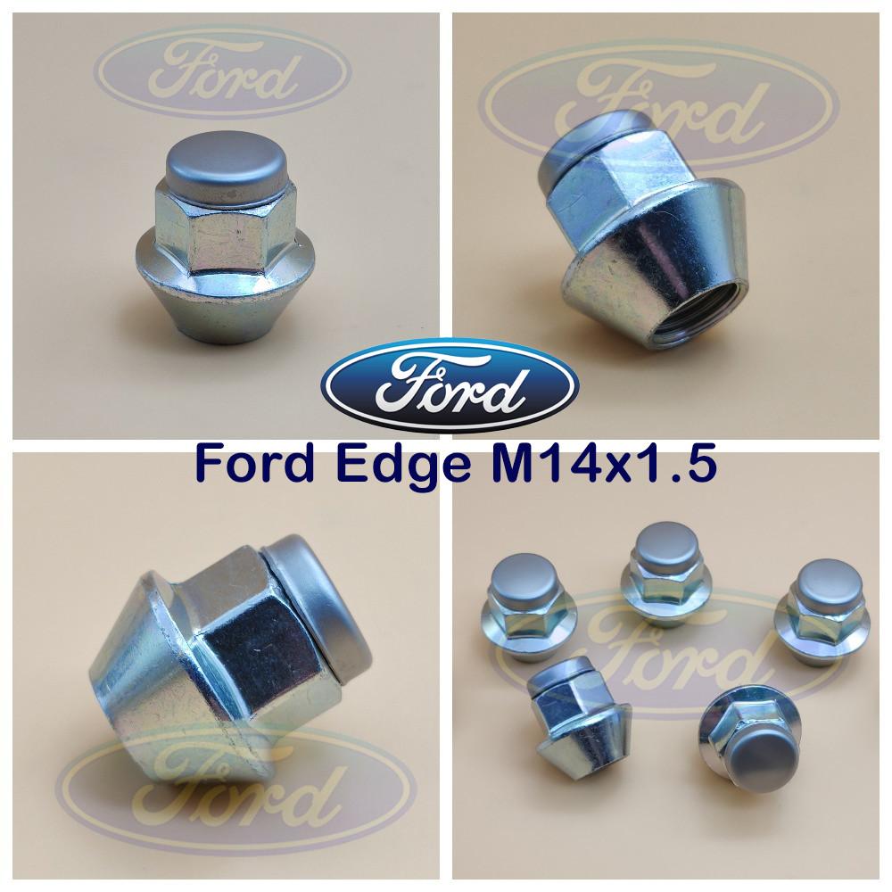 Гайка колесная Ford Edge с большим конусом М14х1,5. Гайки для дисков Форд Эдж с цельными литыми гранями.