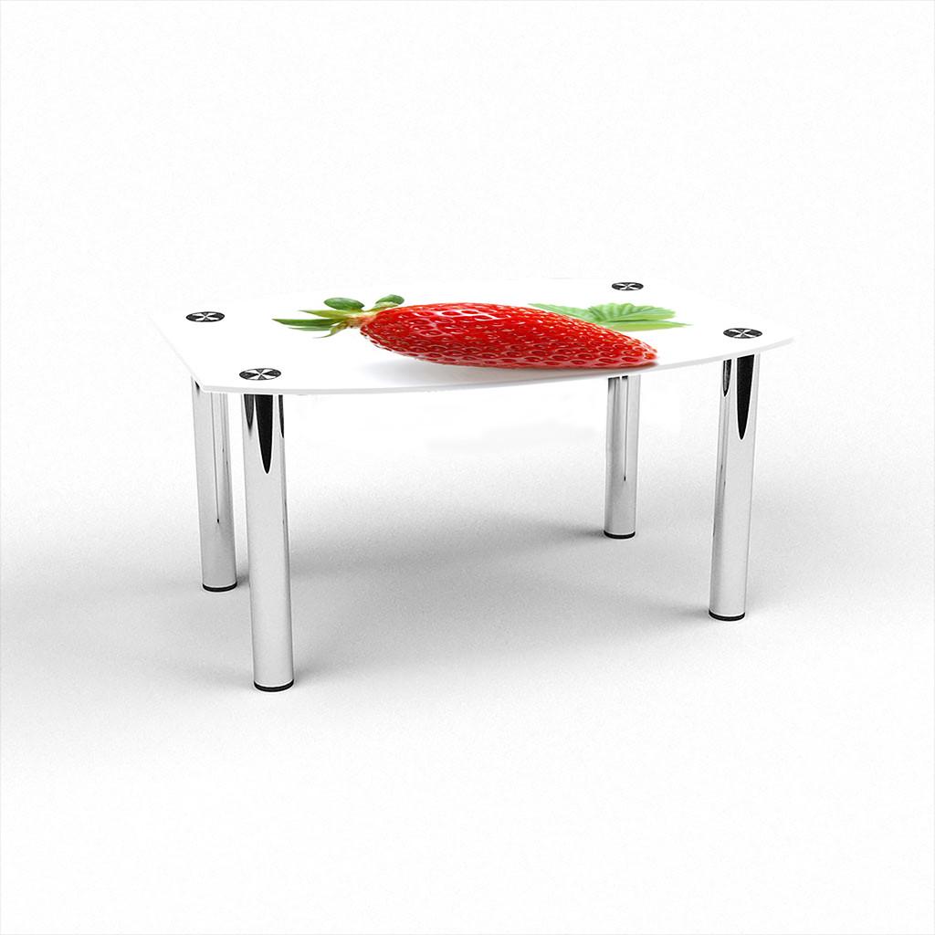 Скляний прямий комп'ютерний стіл БЦ Стіл Альтаір