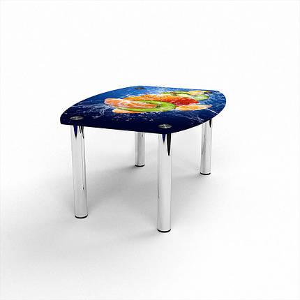 Стеклянный  стол журнальный столик из стекла БЦ Стол Бочка с фотопечатью Sweet Mix, фото 2