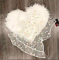 Біла прозора майка з вишивкою