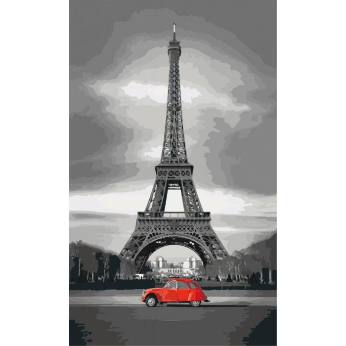 Картина по номерам Париж ТМ Идейка 30 х 50 см КНО2147
