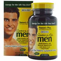 Вітаміни для Чоловіків Natures Plus Source of Life Men (60 таблеток) Оригінал! (338392)