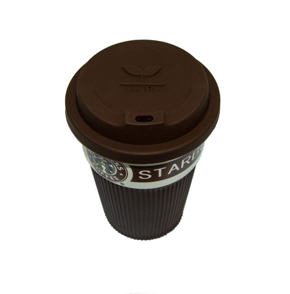 Розпродаж! Термокружка 350 мл, Коричнева, термостакан для кави, чаю | термостакан для кофе