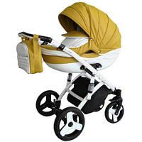 Детская коляска 2 в 1 Victoria Gold Lumi с алюминиевой рамой горчичная