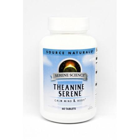 Аминокислоты Source Naturals Serene Science L-Theanine Serene (60 таблеток)