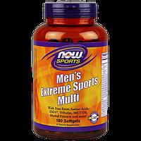 Вітаміни для чоловіків NOW men's Extreme Sports Multi (180 кап) Оригінал! (335302)