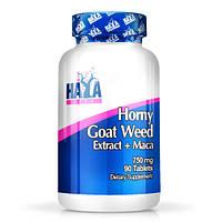 Стимулятори виробництва природного тестостерону HAYA LABS Horny Goat Weed Extract 750 мг + MACA (90 таб)