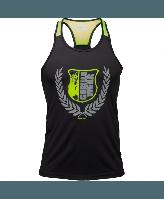 Майка Gorilla Wear Lexington Tank Top Black/Neon Lime Оригінал! (340535)