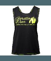 Майка Gorilla Wear Odessa Cross Back Tank Top Black/Neon Lime Оригінал! (340645)
