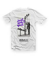 Футболка BioTech T-shirt Just dont quit white Оригінал! (338903)