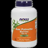 Мінеральний комплекс для чоловіків NOW Saw Palmetto Berries 550 мг (250 кап) Оригінал! (335163)
