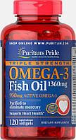Комплекс незаменимых жирных кислот Puritan's Pride Omega 3 Triple Strength 1360 мг (120 капс)
