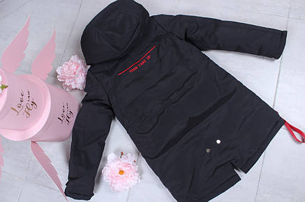 Підліткова куртка для хлопчика двостороння р. 150-180 опт, фото 2