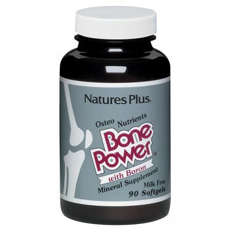 Кальций с Бором для Крепких Костей Natures Plus Bone Power (90 желатиновых капсул)